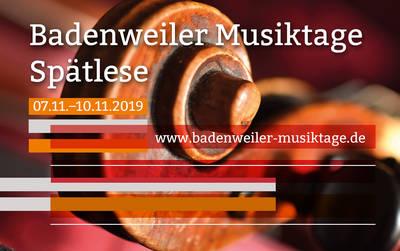 Badenweiler Musiktage Herbst 2019 - Spätlese Gespräch mit Tabea Zimmermann