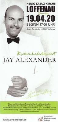Kirchenliederkonzert Geh aus mein Herz... Jay Alexander  findet nicht statt !! Ersatztermin wird hier bekanntgegeben !!