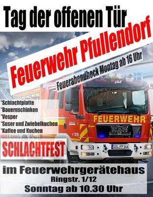 Abgesagt: Schlachtfest der Freiwilligen Feuerwehr Pfullendorf  Feuerabendhock