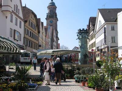 Wochenmarkt Marktplatz Hechingen
