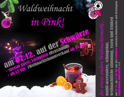 Waldweihnacht in Pink