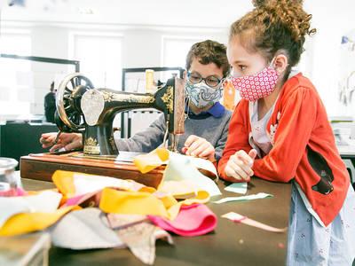 Werk Stoff Textil  Vom Faden zum GewebeJunges Museum Frankfurt, Stefanie Kösling. (© Werk Stoff Textil  Vom Faden zum Gewebe)