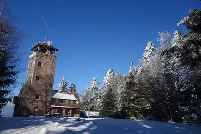 Winterwanderung zu und über Schwarzwaldhöhen