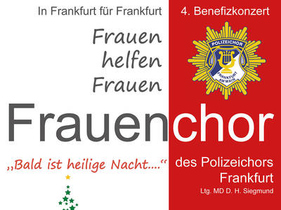 4th benefit concert of the womens choir of the Frankfurt Police Choir