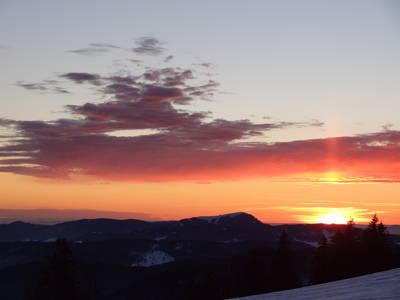 Der Kelten-Kalender  gefhrte Schneeschuhwanderung zum Sonnenuntergang auf den Belchen