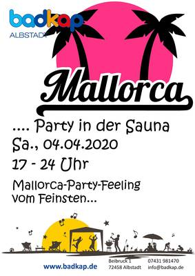 !!ABSAGE!! Mallorca-Party in der Sauna