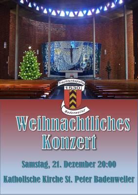 Weihnachtskonzert mit der Trachtenkapelle Badenweiler