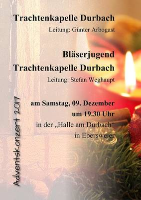 Adventskonzert der Trachtenkapelle Durbach