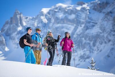 Auf Schneeschuhen das UNESCO-Welterbe Sardona erleben