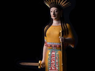 Akropolismuseum, Athen, Inv. 679Liebieghaus Skulpturensammlung. (© BUNTE GÖTTER  GOLDEN EDITION. Die Farben der Antike)