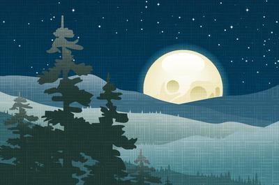 Candlelight Nachtbaden Schneeflocke