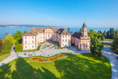 Insel Mainau mit Schloss. (© Achim Mende, Mainau GmbH)