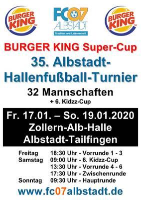 BURGER KING Super-Cup 2020 - 35. Albstadt-Hallenfußball-Turnier