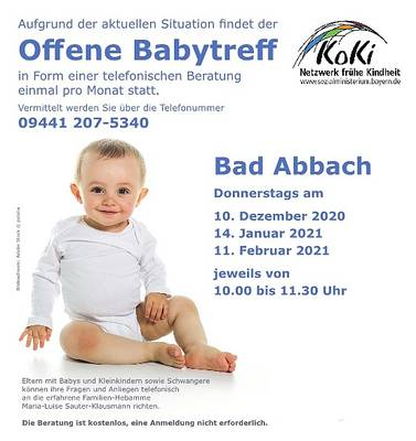 Offener Babytreff - Beratung per Telefon