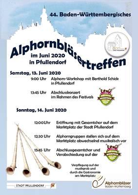 Abgesagt: 44. Baden-Württembergisches Alphornbläsertreffen in Pfullendorf