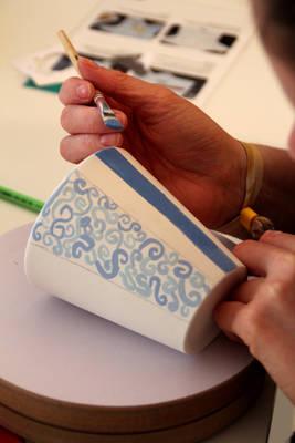Sonntagsblues ade - Keramik selbst bemalen