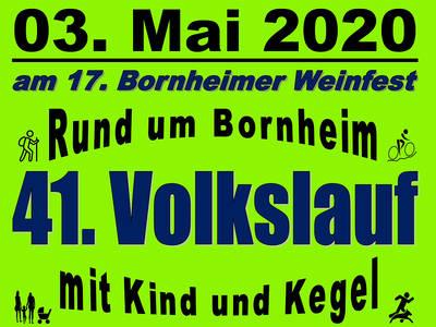 41. Volkslauf Rund um Bornheim mit Kind und Kegel