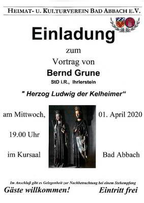 ABGESAGT - Herzog Ludwig der Kelheimer - Vortrag Heimat- und Kulturverein