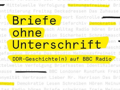 Briefe ohne Unterschrift. DDR-Geschichten auf BBC RadioStudio IT'S ABOUT. (© Briefe ohne Unterschrift. DDR-Geschichten auf BBC Radio)