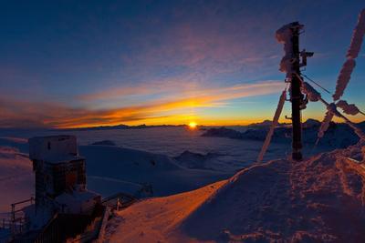 Sunset Dinner Matterhorn glacier paradise
