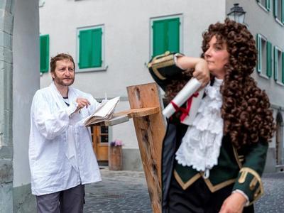 Inszenierte Altstadtführungen in Ilanz