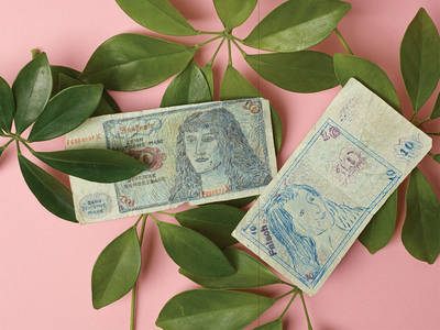Banknotes and confetti: special exhibition by Annette