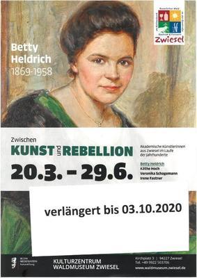Ausstellung Zwischen Kunst und Rebellion - Akademische Künstlerinnen aus Zwiesel
