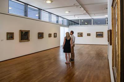 Ausstellung: Impressionen in Acryl  von Thomas Cavelius. (© Kevin Ehm)