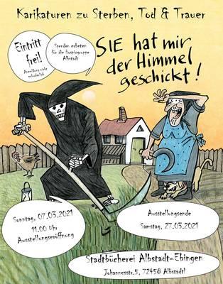 Ausstellung: Karikaturen zu Sterben, Tod & Trauer