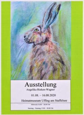Ausstellung im Heimatmuseum Uffing Gemälde von Frau Rieken-Wagner