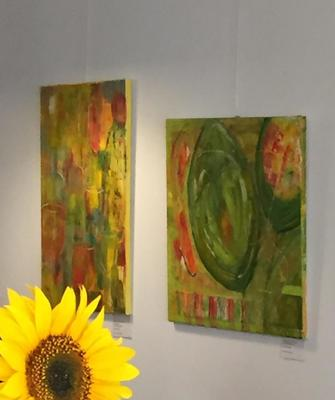 Ausstellung Bilder in Acrylmischtechnik und Naturfarben