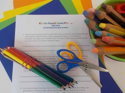 Das Kinder-Kunsträtsel-Plus in der Kunstsammlung der DZ BankDZ BANK Kunstsammlung. (© Das Kinder-Kunsträtsel-Plus in der Kunstsammlung der DZ Bank)