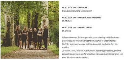 Konzert Flauto Consort Freiburg in der St Cyriak