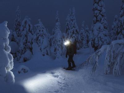 Geführte Schneeschuh-Abendwanderung in Brigels