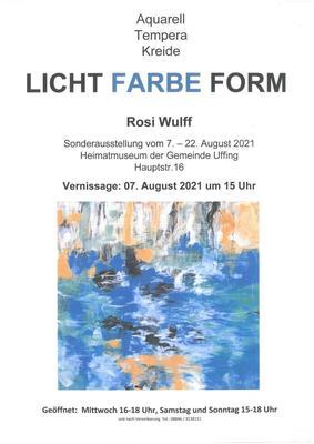 Gemälde von Frau Roswitha Wulff
