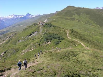 Geführte Tageswanderung Piz Mundaun-Bündner Rigi in Obersaxen