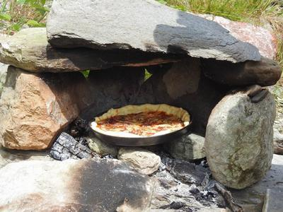 Pizzaofen bauen in Brigels