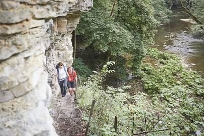 Wandern in der Wutachschlucht. (© Hochschwarzwald Tourismus GmbH)