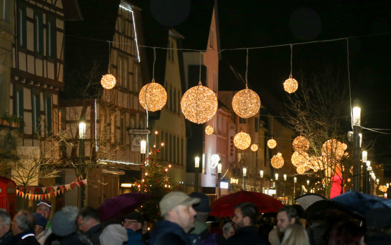 Weihnachtsbeleuchtung Xxl.Einschalten Der Weihnachtsbeleuchtung In Eppingen Am 29 11 2019